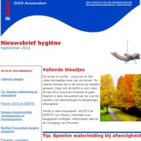 Nieuwsbrief hygiene GGD Amsterdam